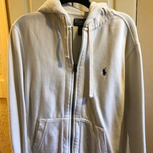 Polo Ralph Lauren white zip up hoodie